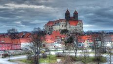 Blick auf das Quedlinburger Schloss
